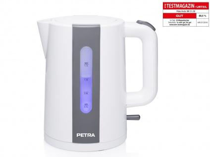 Moderner PETRA 1, 7 Liter Wasserkocher Arktisch Weiß und 2200 Watt BPA-frei