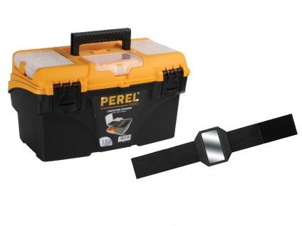 Werkzeugkasten Kunststoff m. Ablagen + Easy Work Magnet - Werkzeug Koffer Kasten