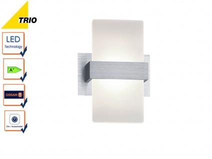 Trio LED Wandleuchte PLATON 13x18cm mit Schalter, Wandlampe Flur Wohnzimmer