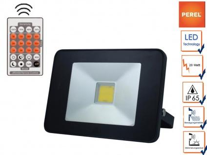 20W LED Strahler mit Bewegungsmelder + Fernbedienung, Außenleuchte Fluter Wand