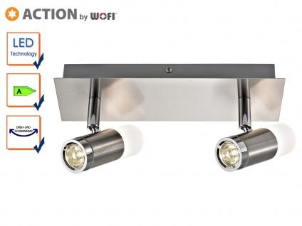 2-flammige LED Deckenleuchte HUELVA, B. 24cm, Deckenlampe Deckenbalken LED Spots