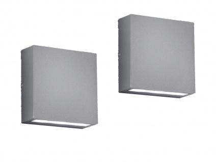 2x LED Wandleuchten für Außen Up and Down Außenbeleuchtung Außenleuchte Hauswand - Vorschau 2