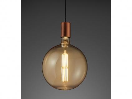 Großes Rundes Industrielook LED Leuchtmittel E27 dimmbar aus Glas in warmweiß