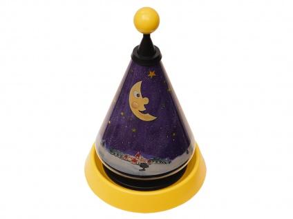 Nachtlicht Carrousel projiziert Mond und Sterne ins Kinderzimmer Tischleuchte