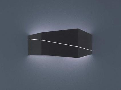 Up & Down Wandlampe eckig in schwarz matt 40 x 18 x 6, 5cm, modernes Flurlicht