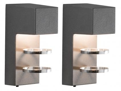 2er-Set Außenwandleuchten ACERRA anthrazit 5 Watt LED 400 Lumen IP54 - Vorschau 2