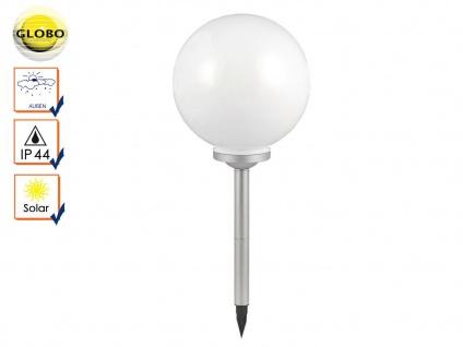 LED Solarlampe Gartenkugel 30cm mit Erdspieß, Lichtkugel Kugellampe Solarkugel