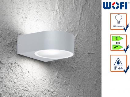 Wandleuchte / Außenleuchte Aluminium Höhe 7cm E27, Fassadenbeleuchtung Haus