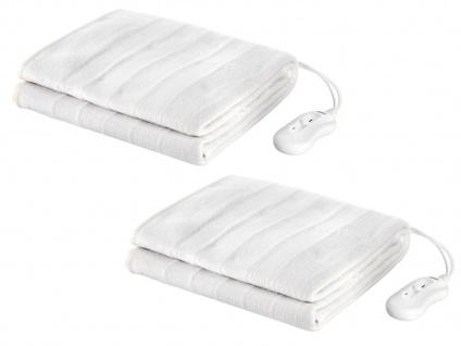 Elektrisches Unterdeckenset für 2 Personen, waschbare Heizdecken, Wärmetherapie - Vorschau 2