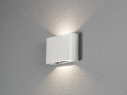 Flache LED Außenleuchte Weiß Up & Down 12W Fassadenleuchten Gartenbeleuchtung