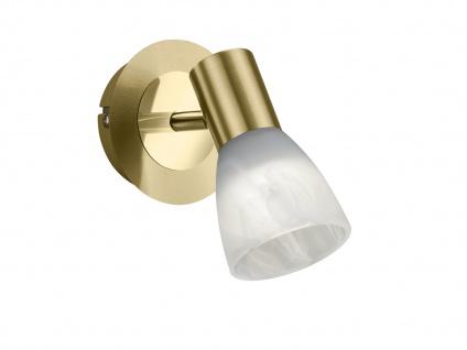 Design LED Wandlampen für Innen Messing matt mit schwenkbarem Spot & Glasschirm - Vorschau 2