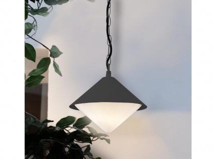 Markante Außenleuchte / Gartenlampe als Hängelampe anthrazit, Outdoor, E27