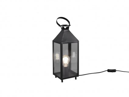 LED Tischleuchte Laterne schwarz Metall 13x13cm 46cm hoch für die Fensterbank - Vorschau 2
