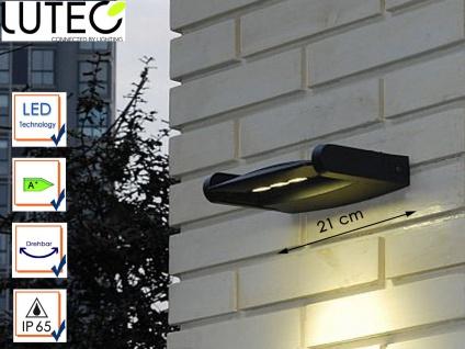 LED Außenwandleuchte Aluguss drehbar IP44 9W LED Fassadenleuchte Wegeleuchte