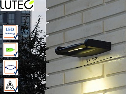 LED Außenwandleuchte Aluguss drehbar IP65 9W LED Fassadenleuchte Wegeleuchte