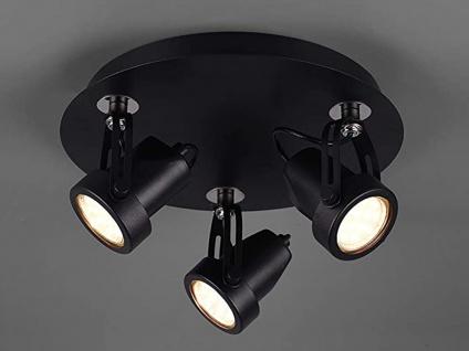 RETRO Deckenstrahler 3-flammig Schwarz LED Beleuchtung Flur, Diele & Treppenhaus