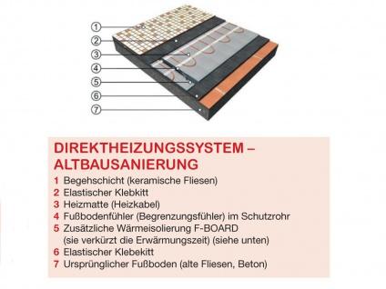 Fußbodenheizung / Heizmatte 1210W, 15, 1 x 0, 5m, 160W / m², Vitalheizung - Vorschau 3