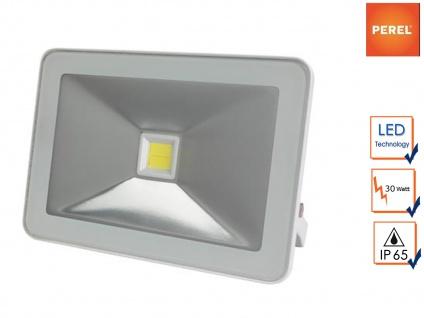 Weißer LED Fluter 30W warmweiß Baustrahler, Scheinwerfer Arbeitslampe Strahler