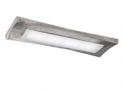 LED Deckenlampe 90cm antik mit Glas, Fernbedienung für Dimmen Farbwechsel Licht
