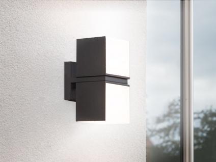 Hochwertige LED Up and Down Wandleuchte für draußen drehbar, ALU Anthrazit eckig