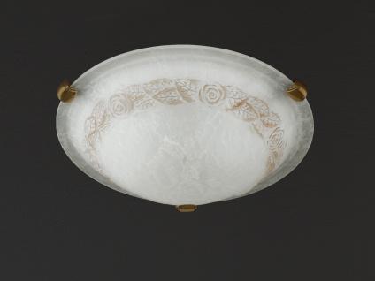 Deckenleuchte altmessing/Glas alabasterfarbig Ø 40 cm Honsel-Leuchten - Vorschau 1