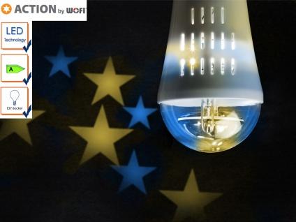 LED Deko Leuchtmittel E27, Stimmungsleuchtmittel Sterne, mit Motor