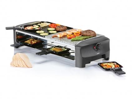 Raclette Gerät mit Steinplatte & wendbarer Grillplatte 8 Personen Raklett Set
