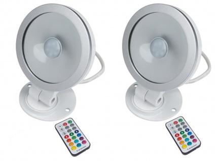 2er Set 10W RGB LED Flutlichtstrahler mit Fernbedienung, Scheinwerfer Partylight - Vorschau 2