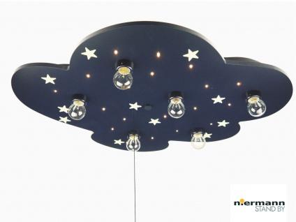 Deckenleuchte WOLKE, fluoreszierende Sterne & Schlummerlicht Kinderzimmerlampe
