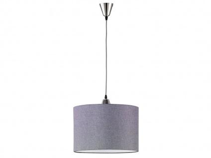 Trio Hängelampe COSINUS mit LED Lampenschirm Textil grau, Esstischlampe Küche