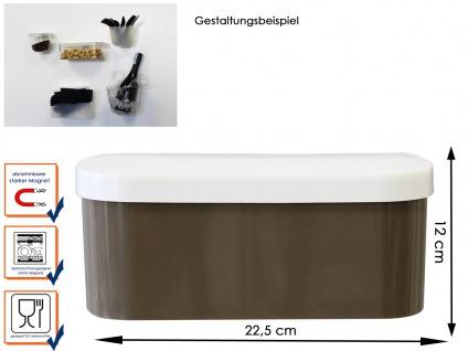 Wandaufbewahrung Kunststofftopf mit Deckel und Magnet, B. 22cm Taube, KalaMitica