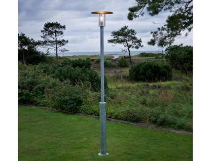 Standleuchte Mastleuchte MODE, E27, Vandalismus geschützt, Gartenlampe
