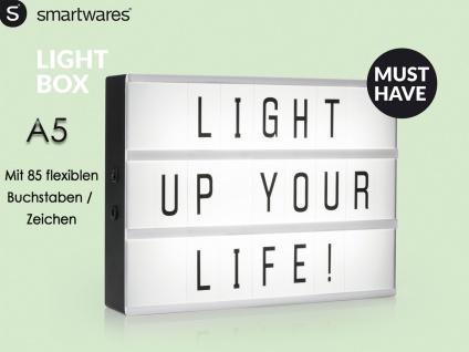 Light-Box / Leuchtkasten A5 mit 85 Buchstaben + Symbolen, batteriebetrieben