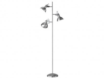Retro Stehlampe Lampenschirme schwenkbar Nickel matt - Leseleuchte Schlafzimmer