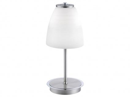 LED Tischlampe mit Lampenschirm Opalglas weiß Ø16cm, Nachttischleuchte Flurlampe