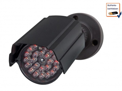 Kamera Attrappe, IR-LEDs (Imitation), Bateriebetrieb, Dummy Überwachungskamera - Vorschau 1