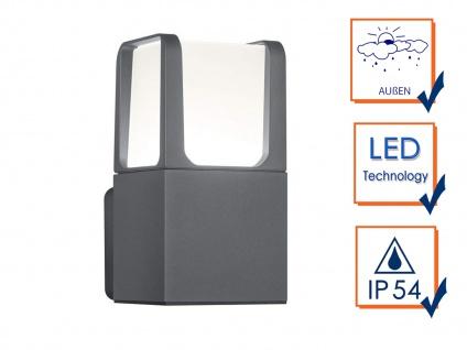2 LED Gehwegleuchten aus ALU in anthrazit moderne Fassadenbeleuchtung H20cm IP54 - Vorschau 3