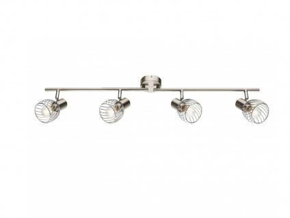 Design Deckenleuchte Strahler 4 flammig mit E14 dimmbaren LEDs, Spots schwenkbar