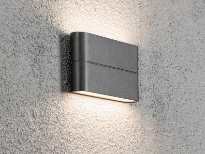 LED Außenwandleuchte anthrazit Up und Down Fassadenbeleuchtung IP54, 17cm breit