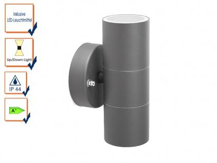 Up-/Down Außenwandleuchte IP44, inkl. 2 x 3W LED 230 Lumen, GU10-Sockel