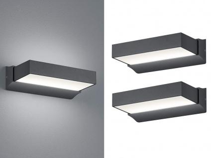 LED Außenwandlampen Anthrazit 2er Set Terrassenbeleuchtung Hausbeleuchtung außen