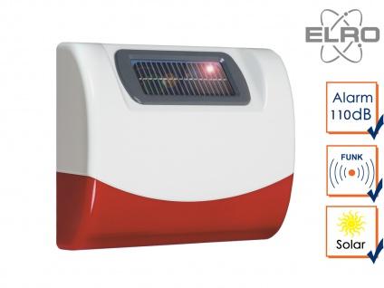 SMART HOME Solar außen Sirene für Elro Alarmanlage AG4000 Handy App Alarmgeber