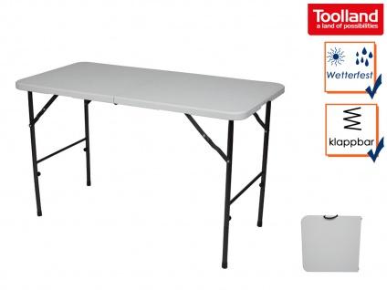 Falttisch für Camping, klappbarer Picknicktisch Terrassentisch, Gartenklapptisch
