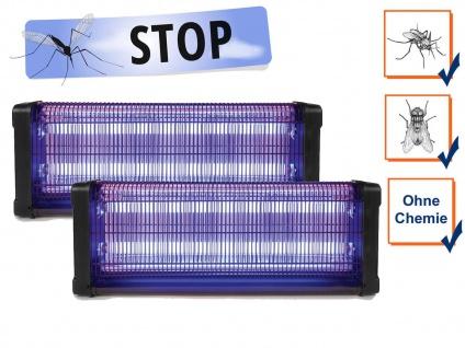 2er Set Insektenvernichter 360°, Stechmückenfalle mit UV Licht, Bereich je 150m²