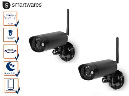 IP Kamera Set Outdoor Überwachungskameras Nachtsicht, Videokamera Smartphone App
