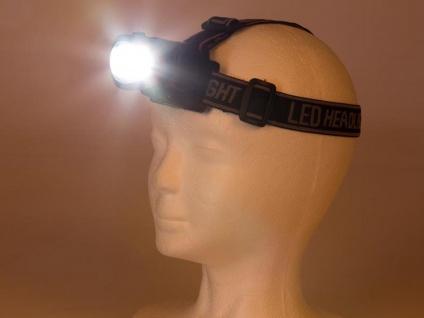 Helle LED Stirnlampe Kopfleuchte fürs Wandern, Trekking, Camping, Outdoor, Beruf - Vorschau 3