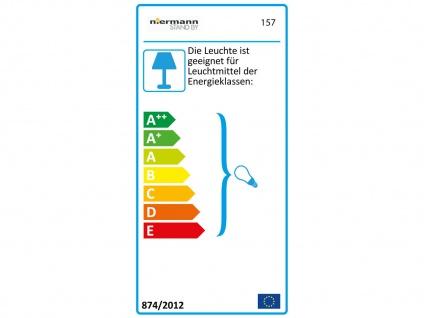 Niermann Lampenschirmaufhängung E27 max.60W 70cm weiß Schnurpendel - Vorschau 3