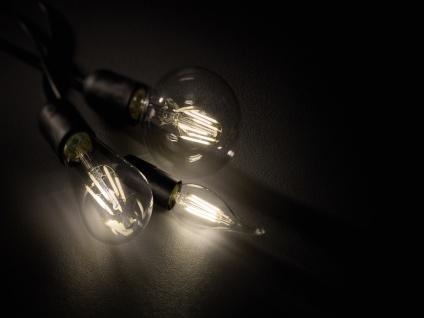 E27 LED Leuchtmittel mit Switch Dimmer, 6W 810lm in Warmweiß, transparentes Glas - Vorschau 3