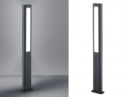 LED 2er SET Wegelampen RHINE aus Aluminium in Anthrazit & weißem Acrylglas, IP54