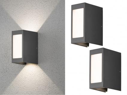 2er Set LED Außenwandleuchte Alu anthrazit IP54 Außenleuchten Wegeleuchten